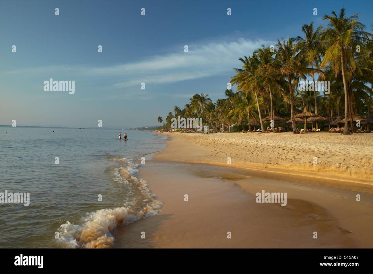 the beach on Phu Quoc, Vietnam - Stock Image