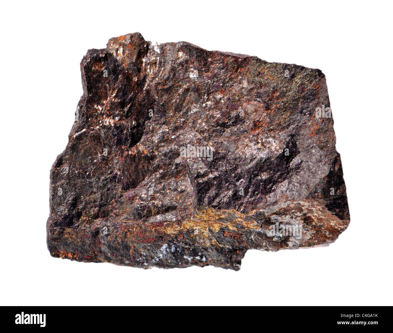 Purpurite (Manganese Phosphate - from Sandamab, Karibib, Erongo, Namibia) - Stock Image