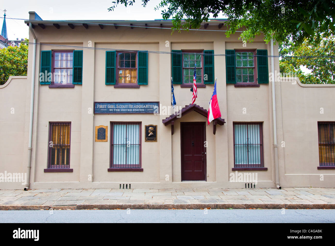 First Girl Scout Headquarters in America, Savannah, Georgia - Stock Image