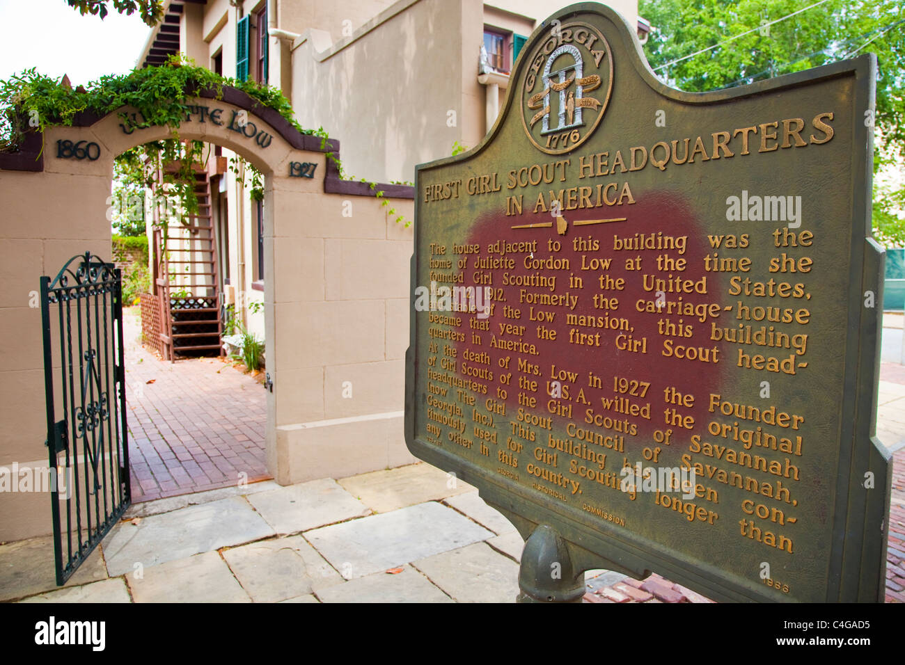 First Girl Scout Headquarters in America, Savannah, Georgia - Stock Image