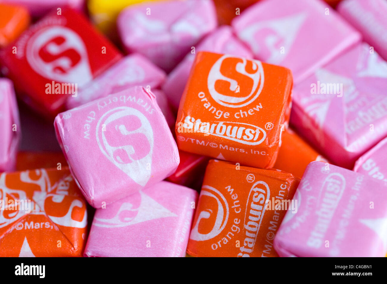 Starburst fruit candy.  - Stock Image