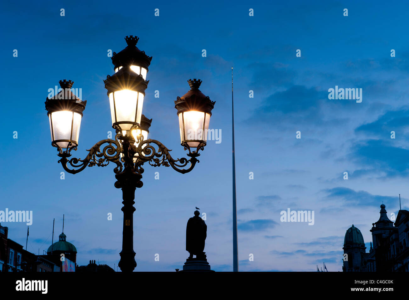 Symbols Of Dublin Five Lamps O Connell Monument And The Spire Of