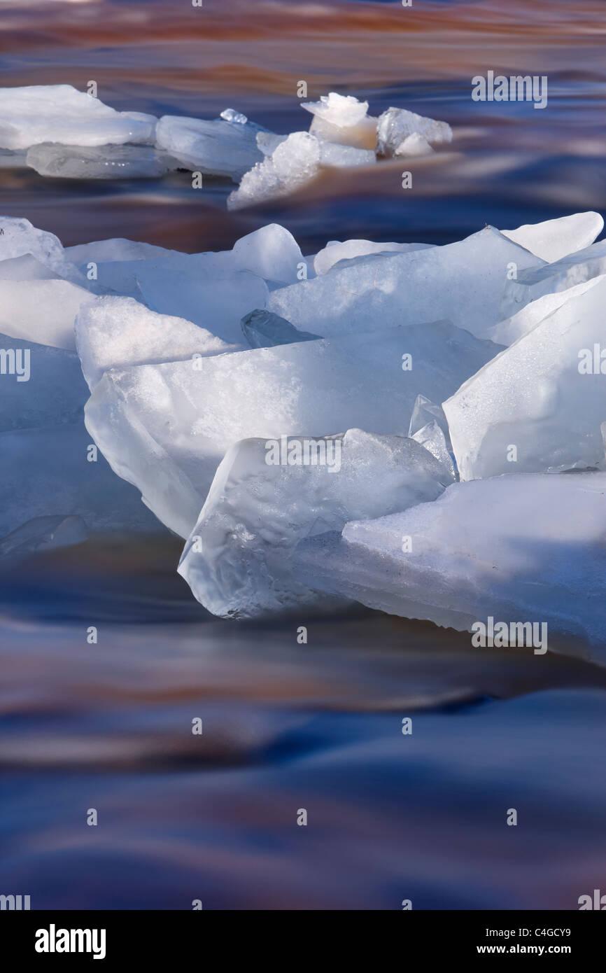 ice on Glen Bracadale, Isle of Skye, Scotland, UK - Stock Image