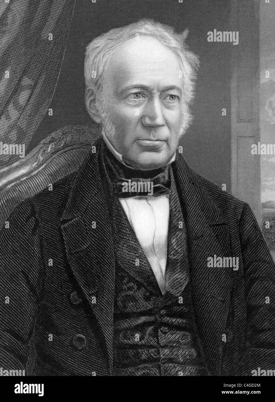 Andrew Ure (1778-1857) on engraving from 1800s. Scottish doctor, scholar and chemist. - Stock Image