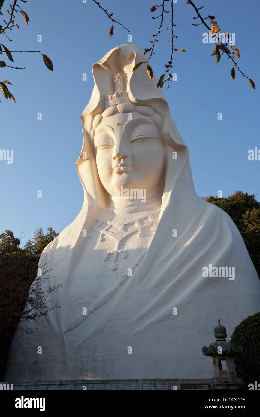 25-m high statue of Ofuna Kannon, the goddess of mercy, Ofuna, Kanagawa-ken, Japan, Far East, Asia. - Stock Image
