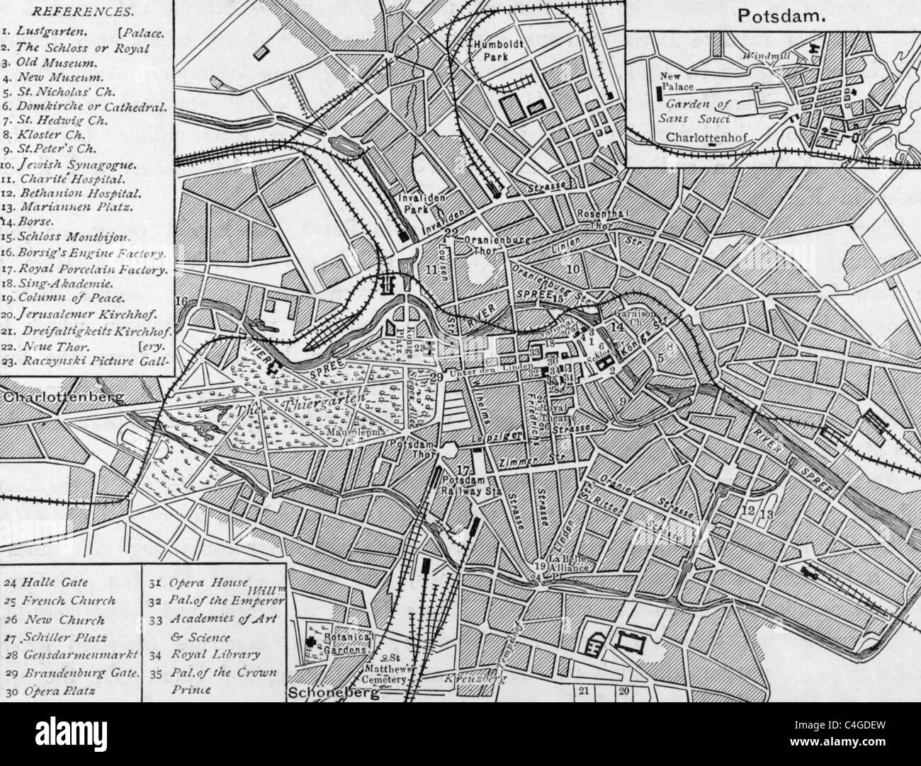 Vintage Map Of Berlin Stock Photos Vintage Map Of Berlin Stock - Vintage map berlin