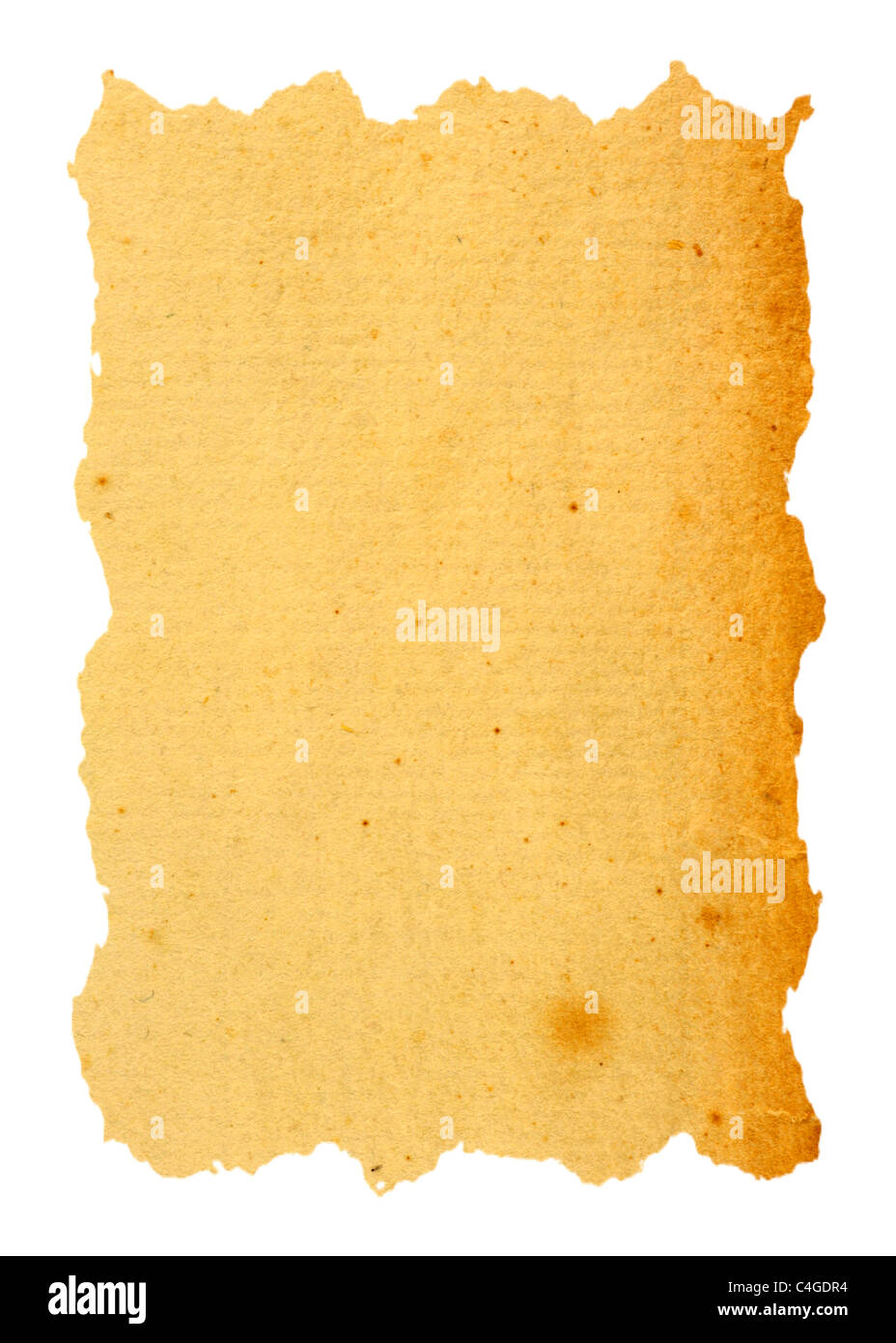 Vintage paper isolated in white - Stock Image