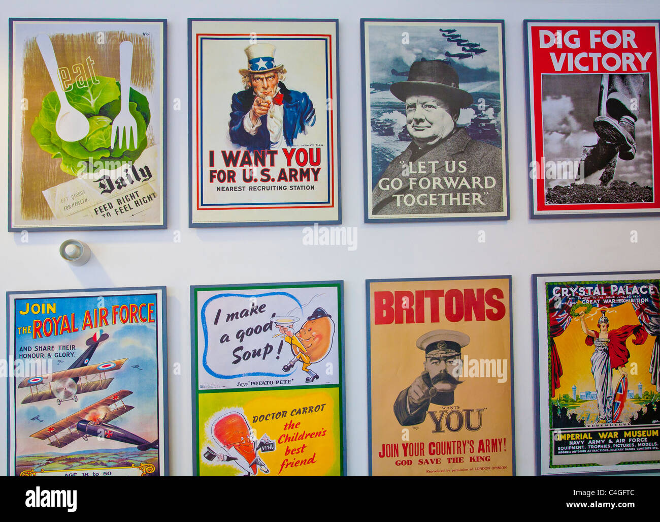Collection war posters - Stock Image