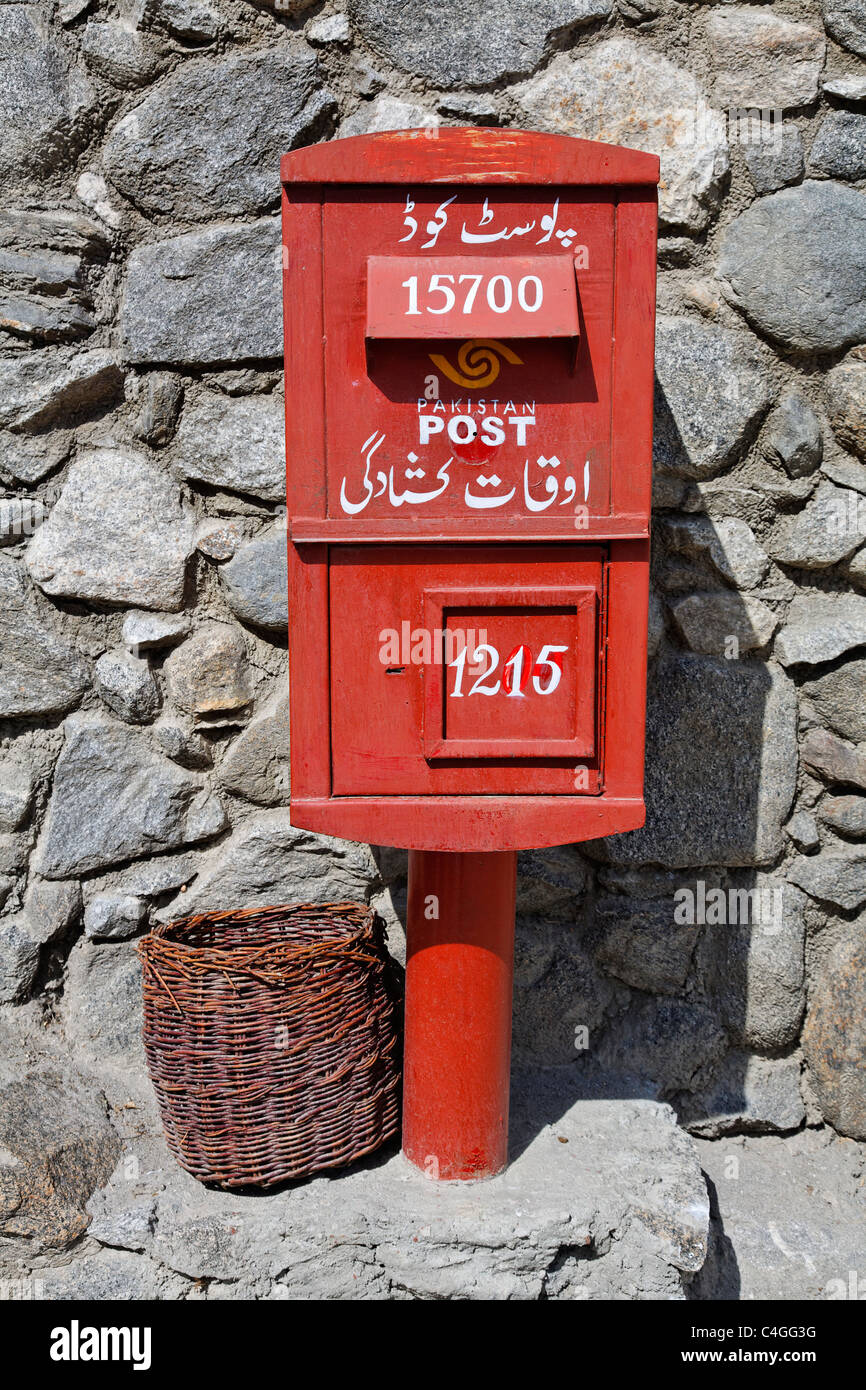 Pakistan - Hunza Valley - Karimabad - post box - Stock Image
