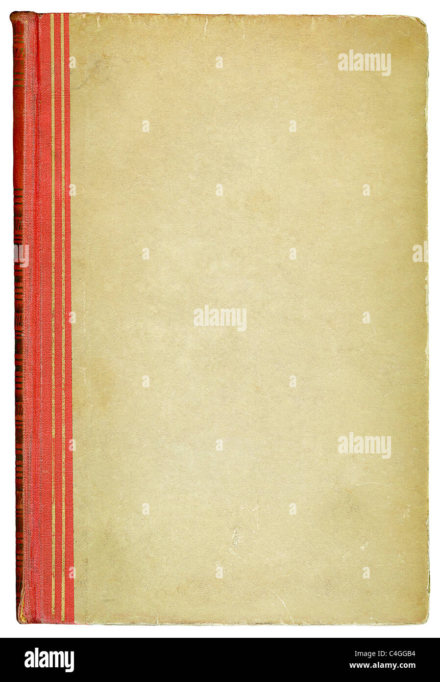 Old book cover - Stock Image