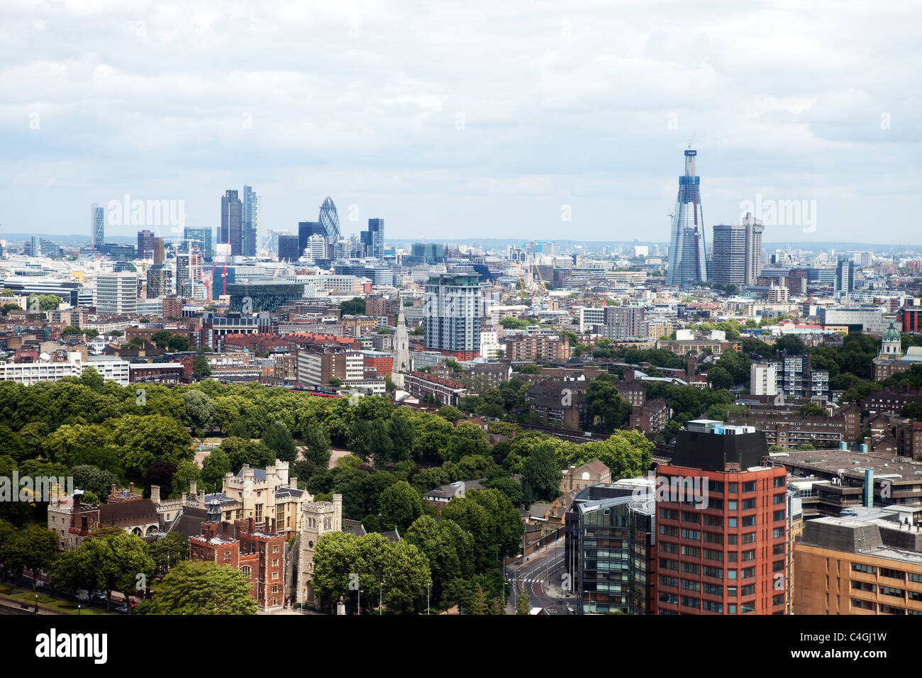 City of London as seen from the North West Stock Photo