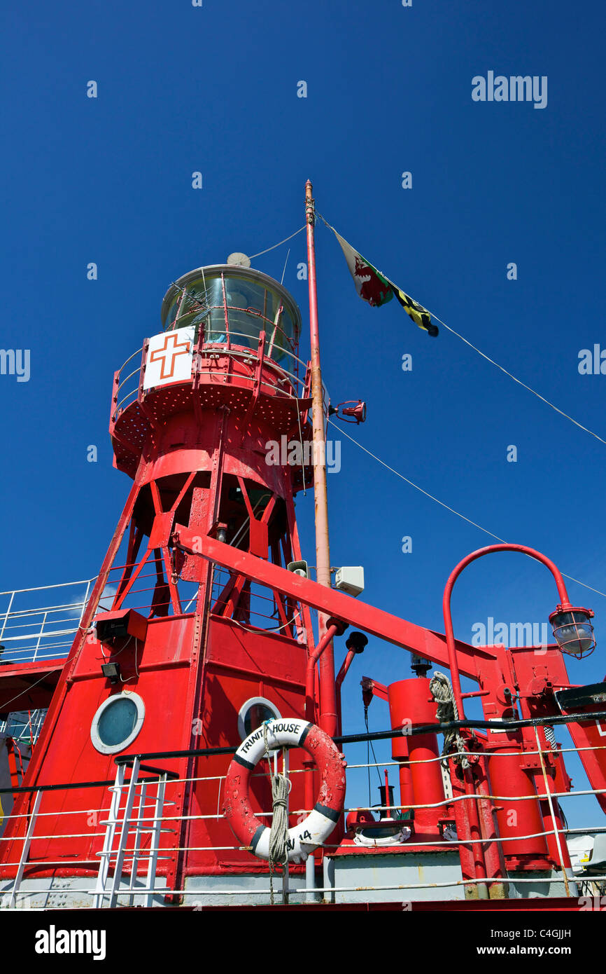 Goleulong Lightship, Cardiff Bay, South Glamorgan, Wales, - Stock Image