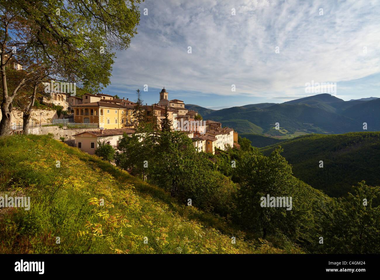 Abetto in the Valnerina, Monti Sibillini National Park, Umbria, Italy Stock Photo