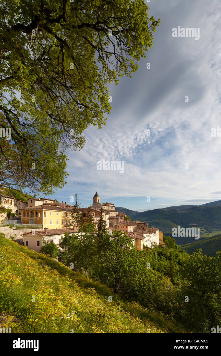 Abetto in the Valnerina, Monti Sibillini National Park, Umbria, Italy - Stock Image