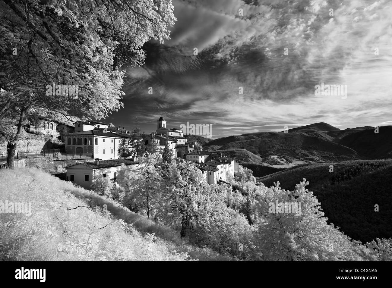Abetto in the Valnerina, Monti Sibillini National Park, Umbria, Italy - Stock Image