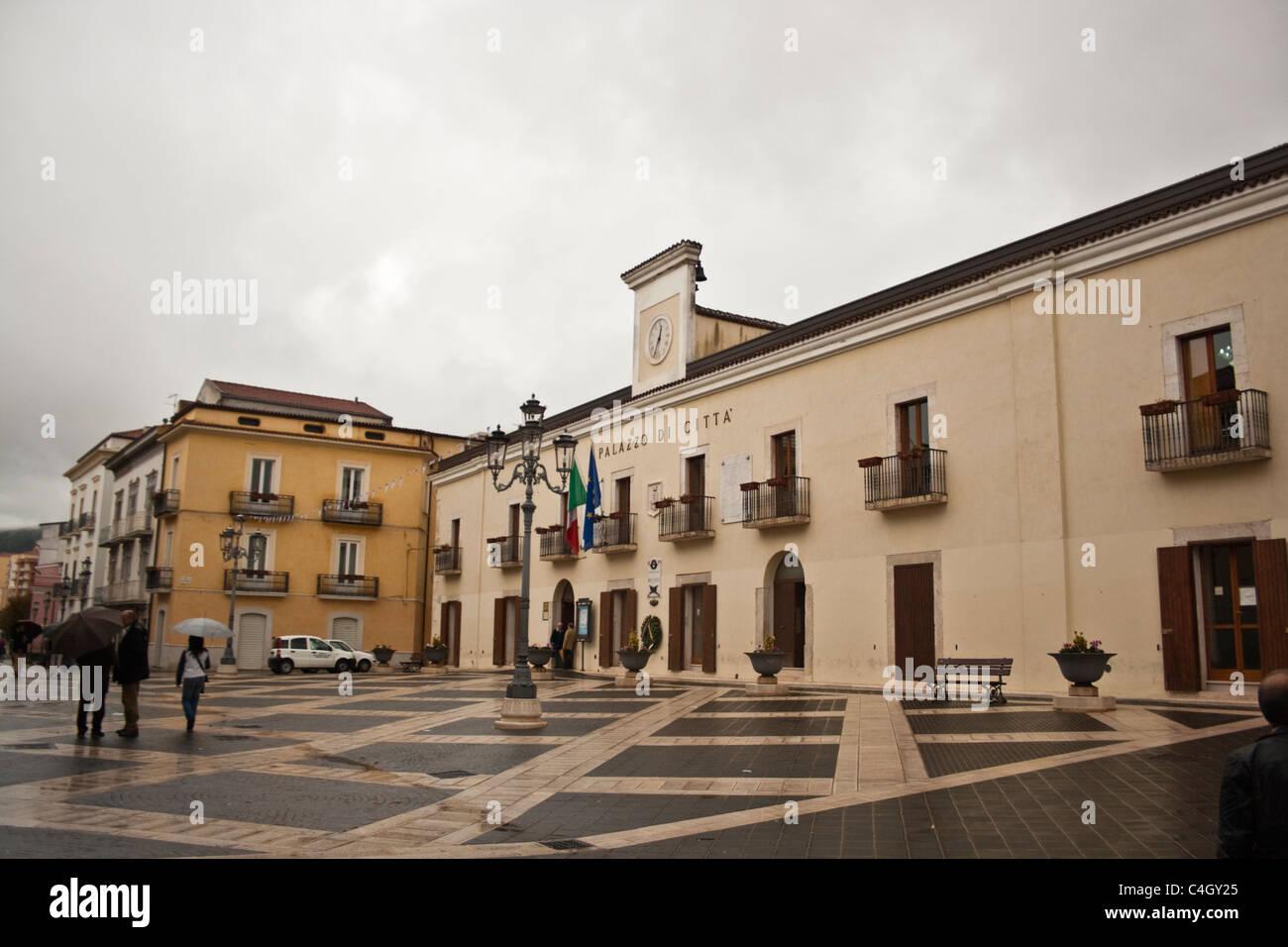 Pietrelcina, Italy - Palazzo di citta - Stock Image