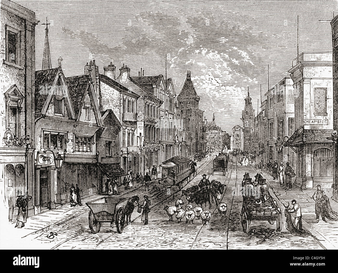 Briggate Leeds Yorkshire England In The Late 19th Century