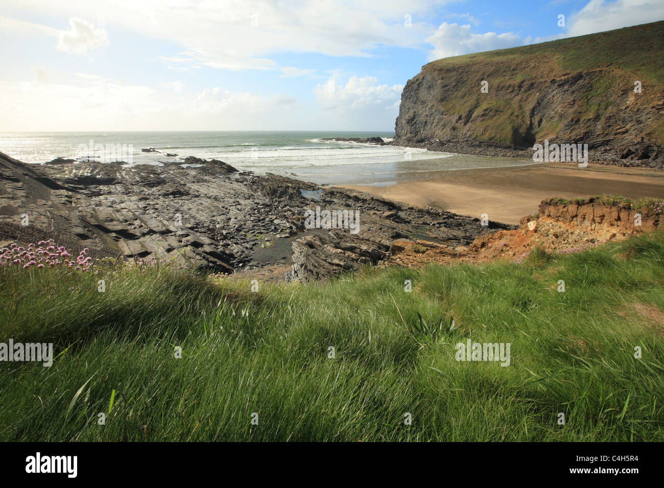 Crackington Haven, North Cornwall, England, UK - Stock Image