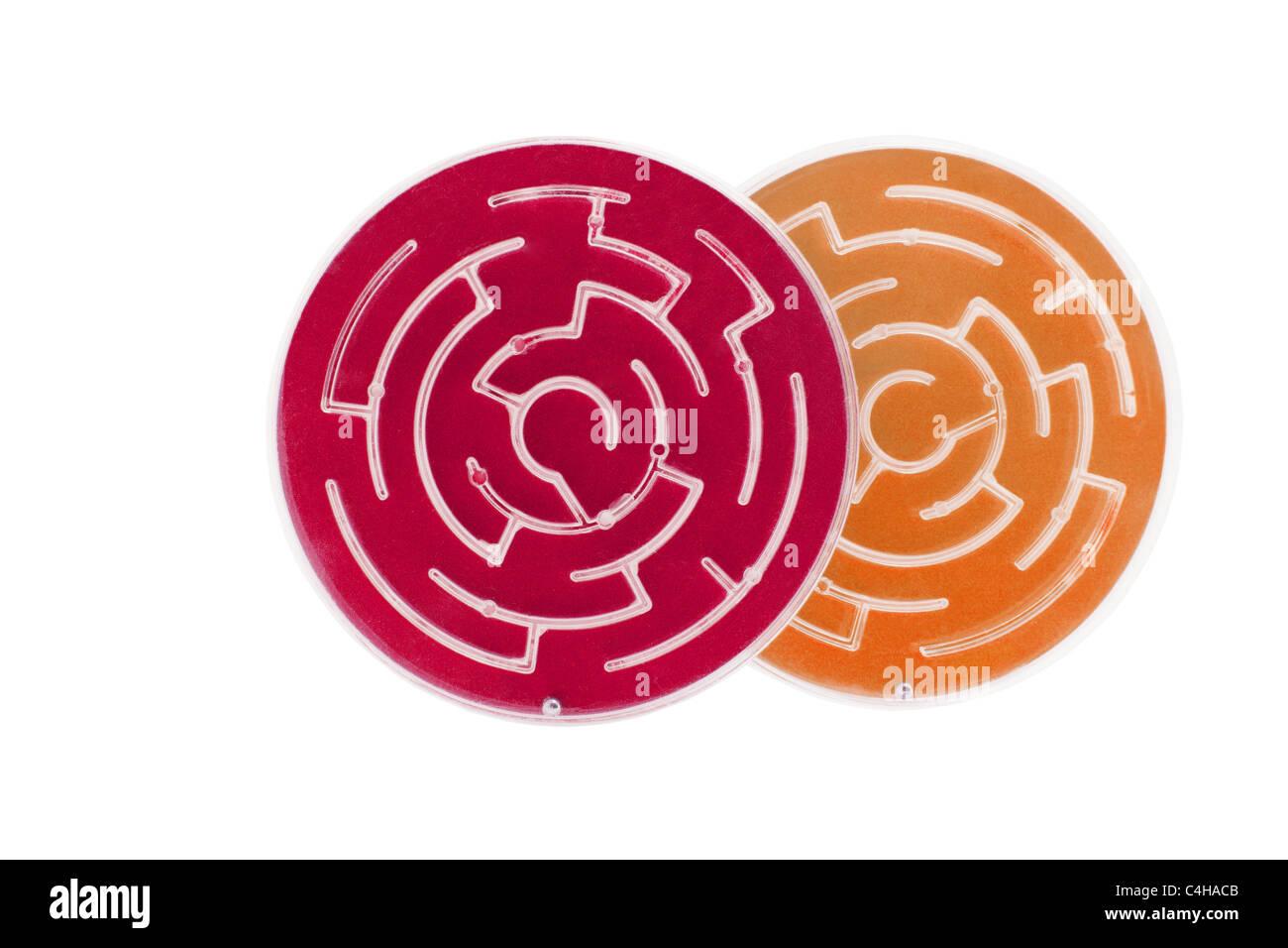 Plastic Maze Game - Stock Image