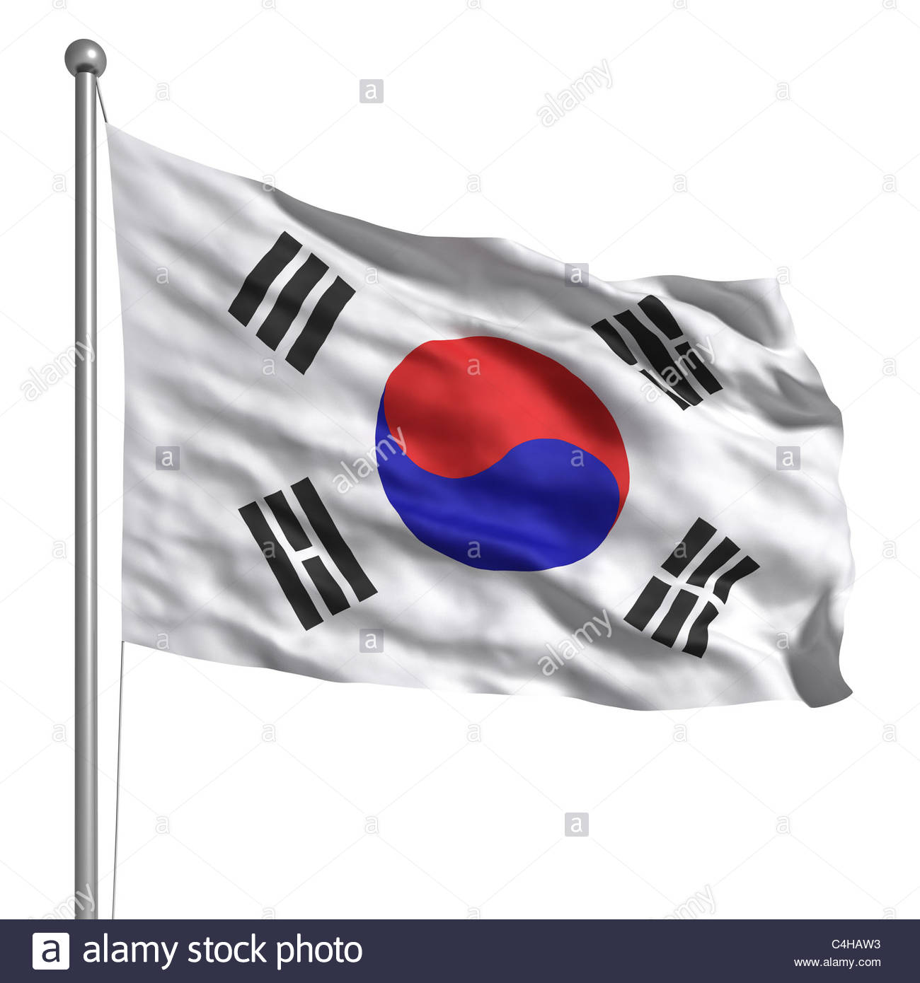 89470c4bfb5 South Korea flag. Rendered with fabric texture (visible at 100%). Clipping