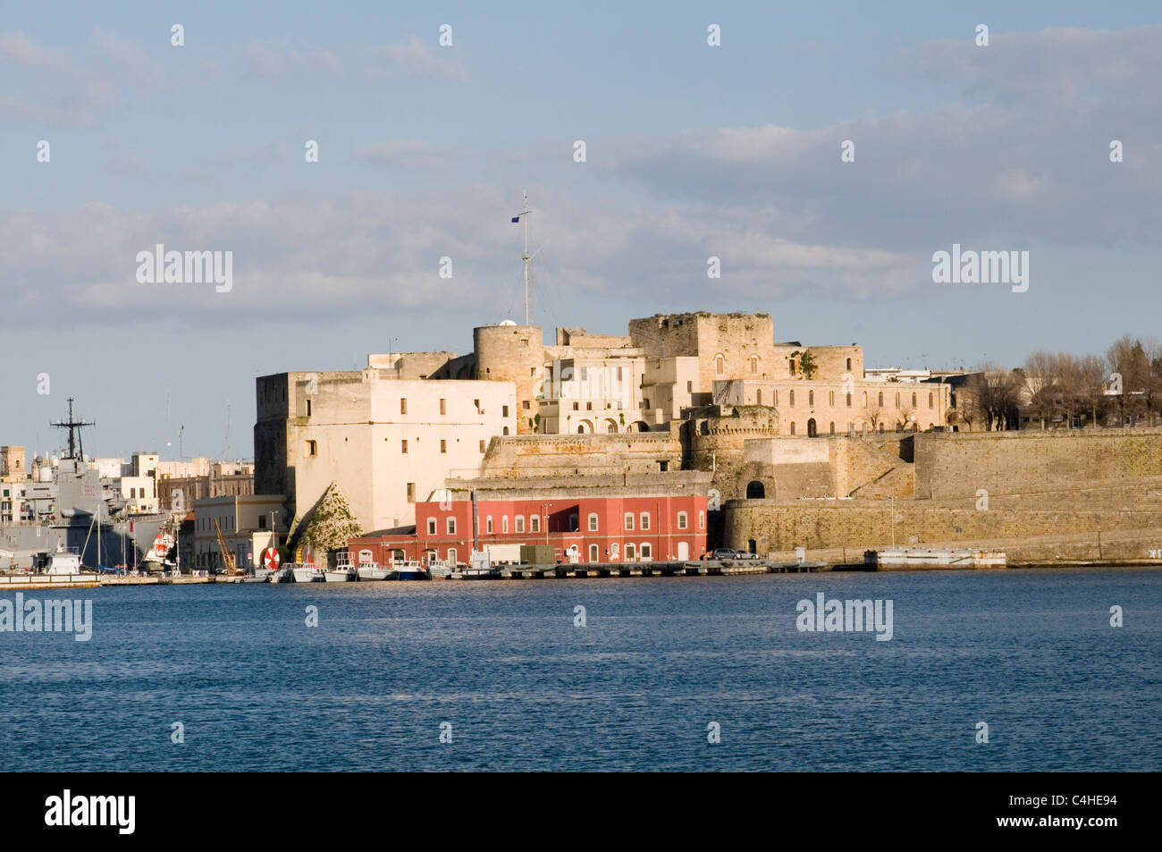 Brindisi Aragon Castle sea fort  southern italy castle defenses fortress - Stock Image