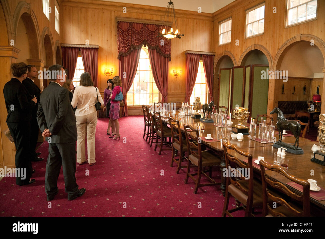 The Coffee Room, inside the Jockey Club, Newmarket Suffolk UK - Stock Image