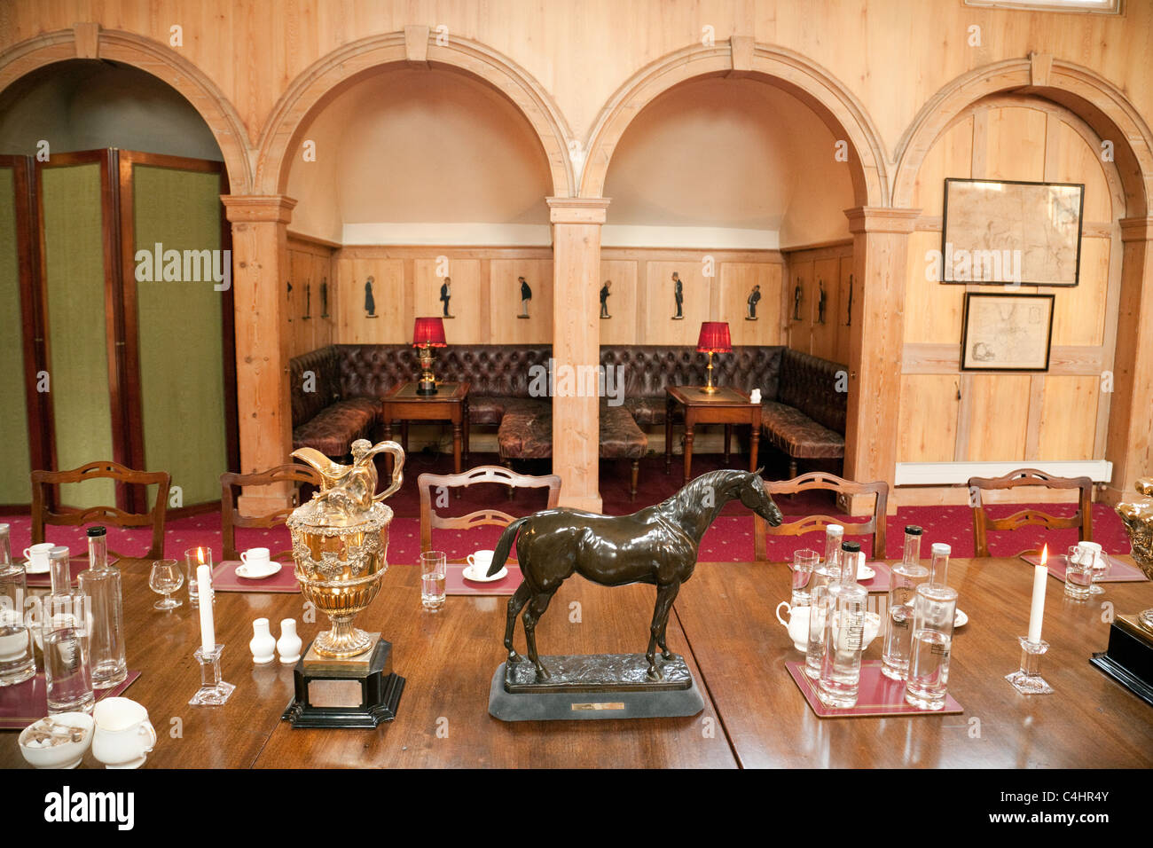 The Coffee room, the Jockey Club, Newmarket Suffolk UK - Stock Image
