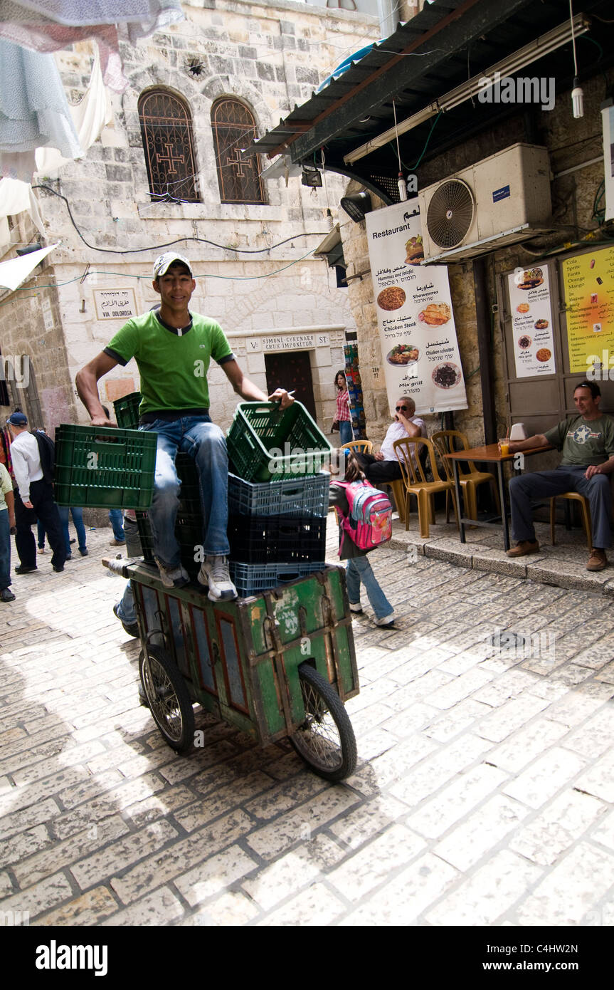 Market scenes in the old city of Jerusalem. - Stock Image