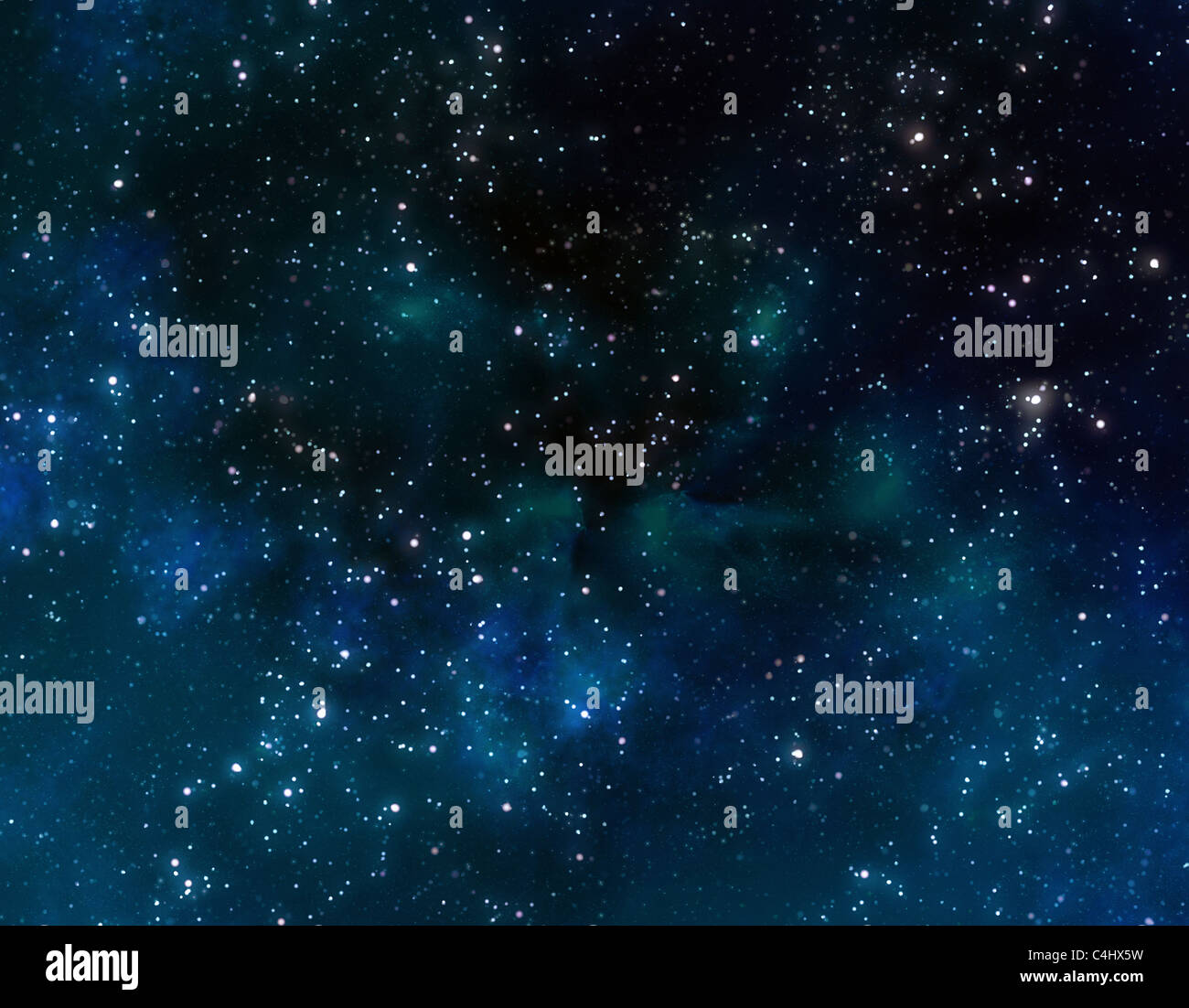 stars and nebula galaxy in deep outer space - Stock Image