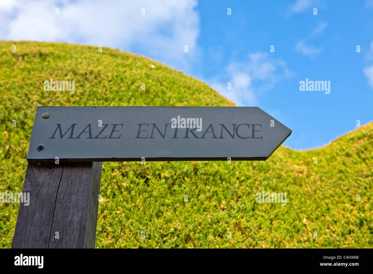Ashcombe Maze, Redhill, Australia - Stock Image