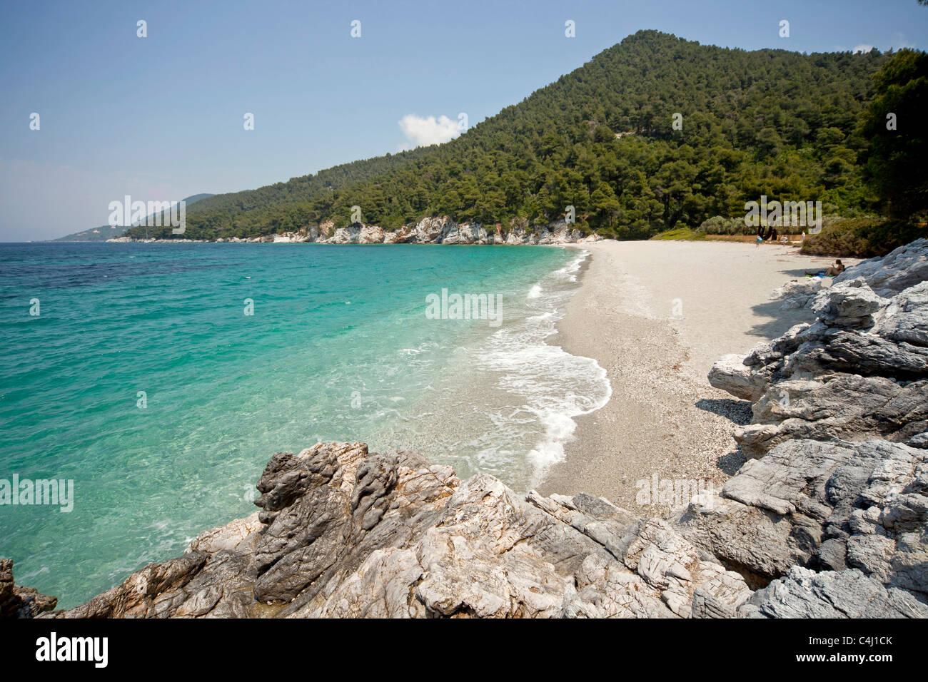 gialos kastani beach and bay mamma mia movie location on skopelos stock photo 37275635 alamy. Black Bedroom Furniture Sets. Home Design Ideas