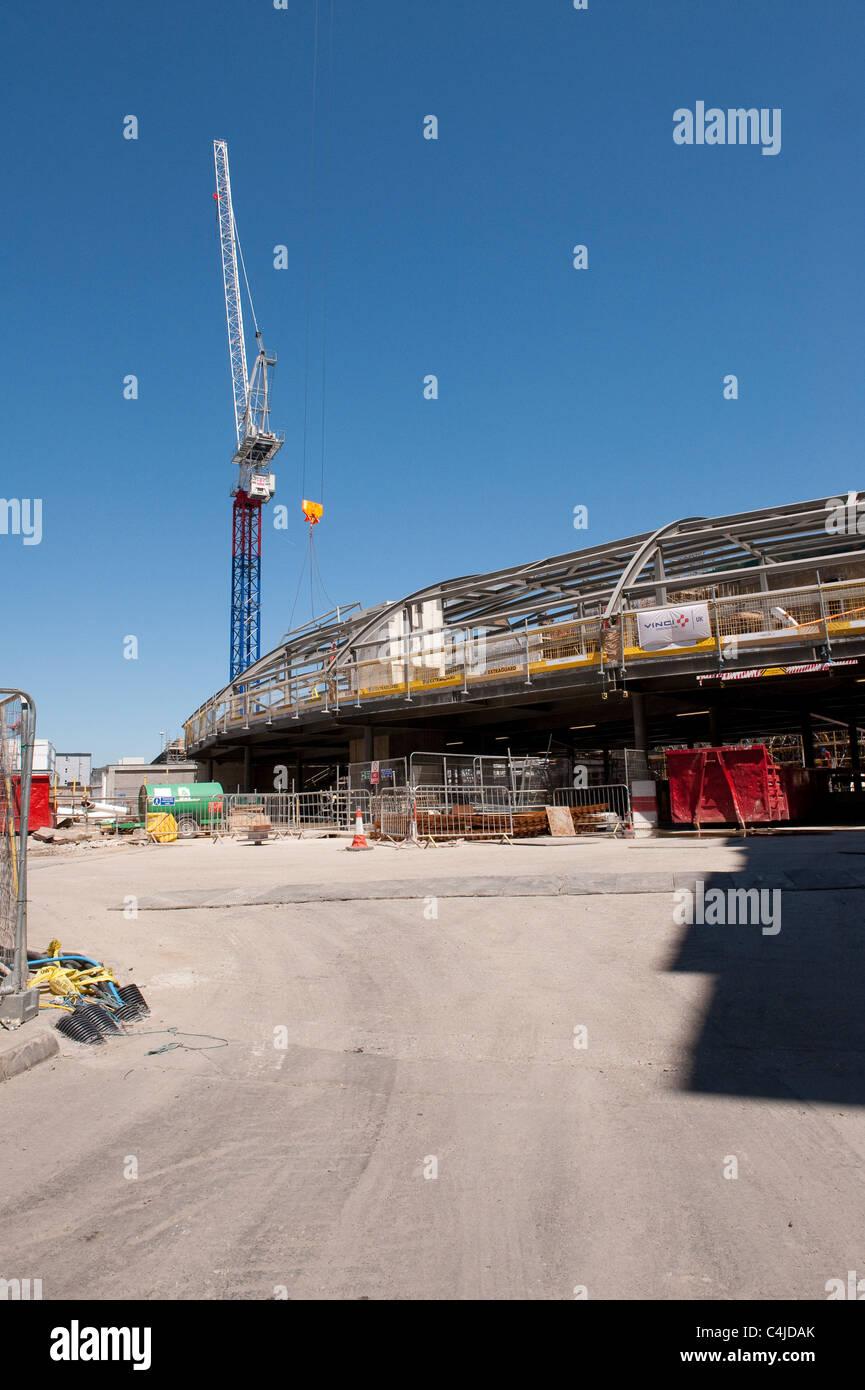 Redevelopment work at Kings Cross Railway Station, London, England. - Stock Image