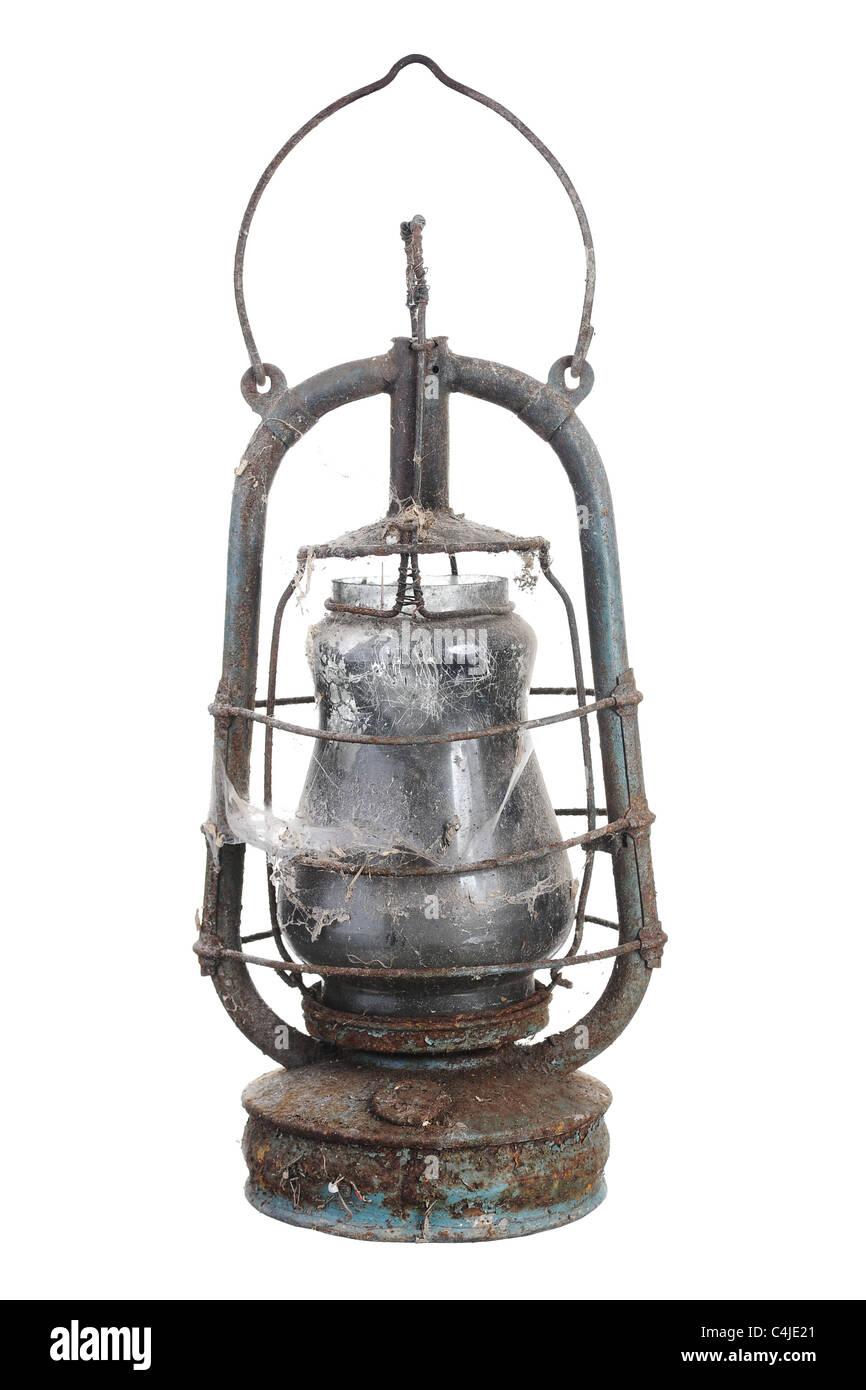 Old kerosene lamp. Stock Photo