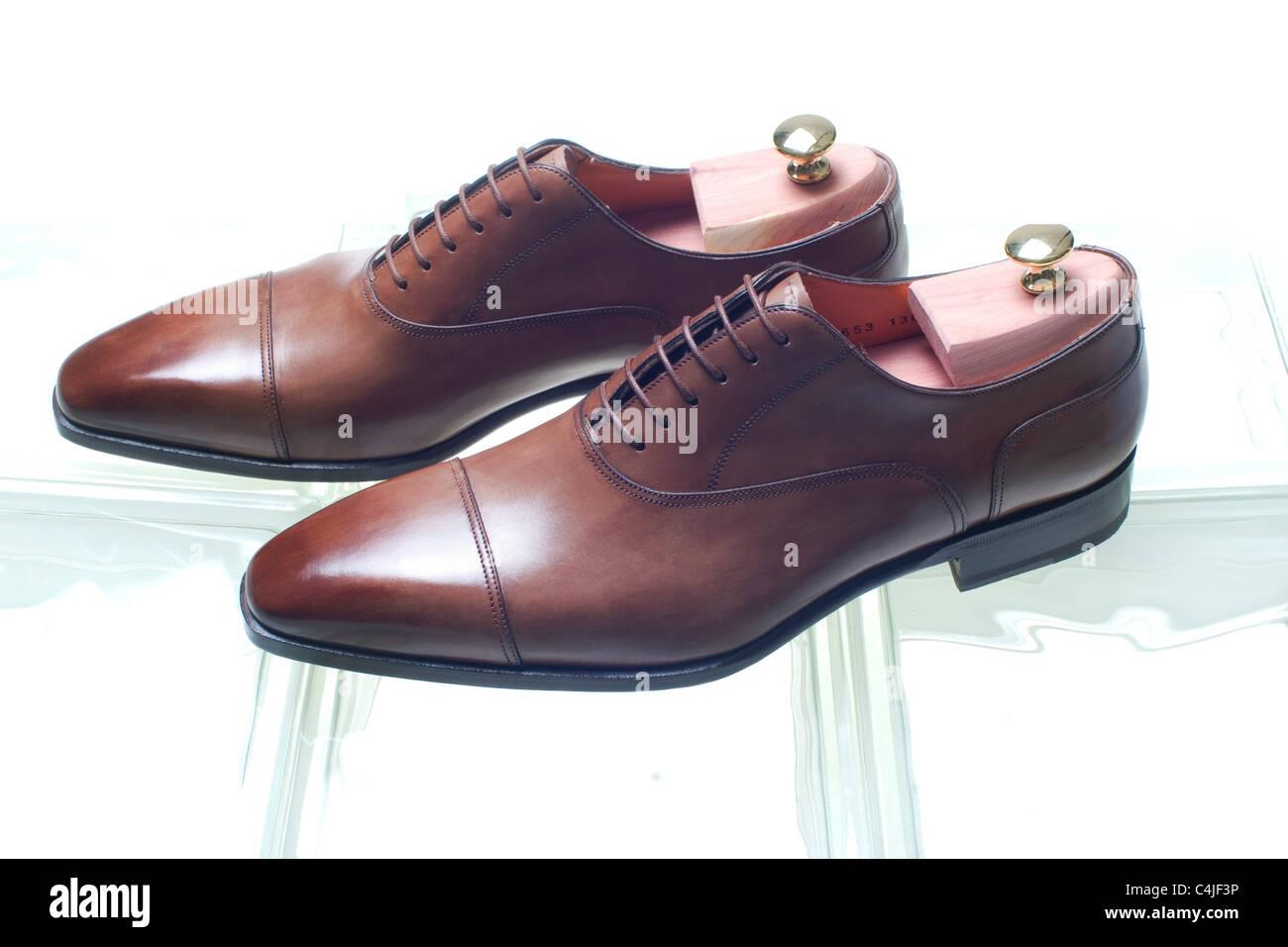 men's shoes - Stock Image