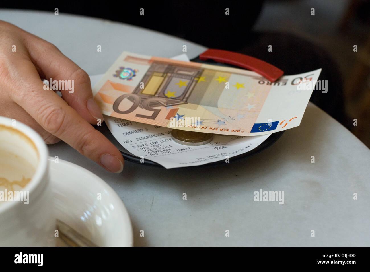 50 euros - Stock Image