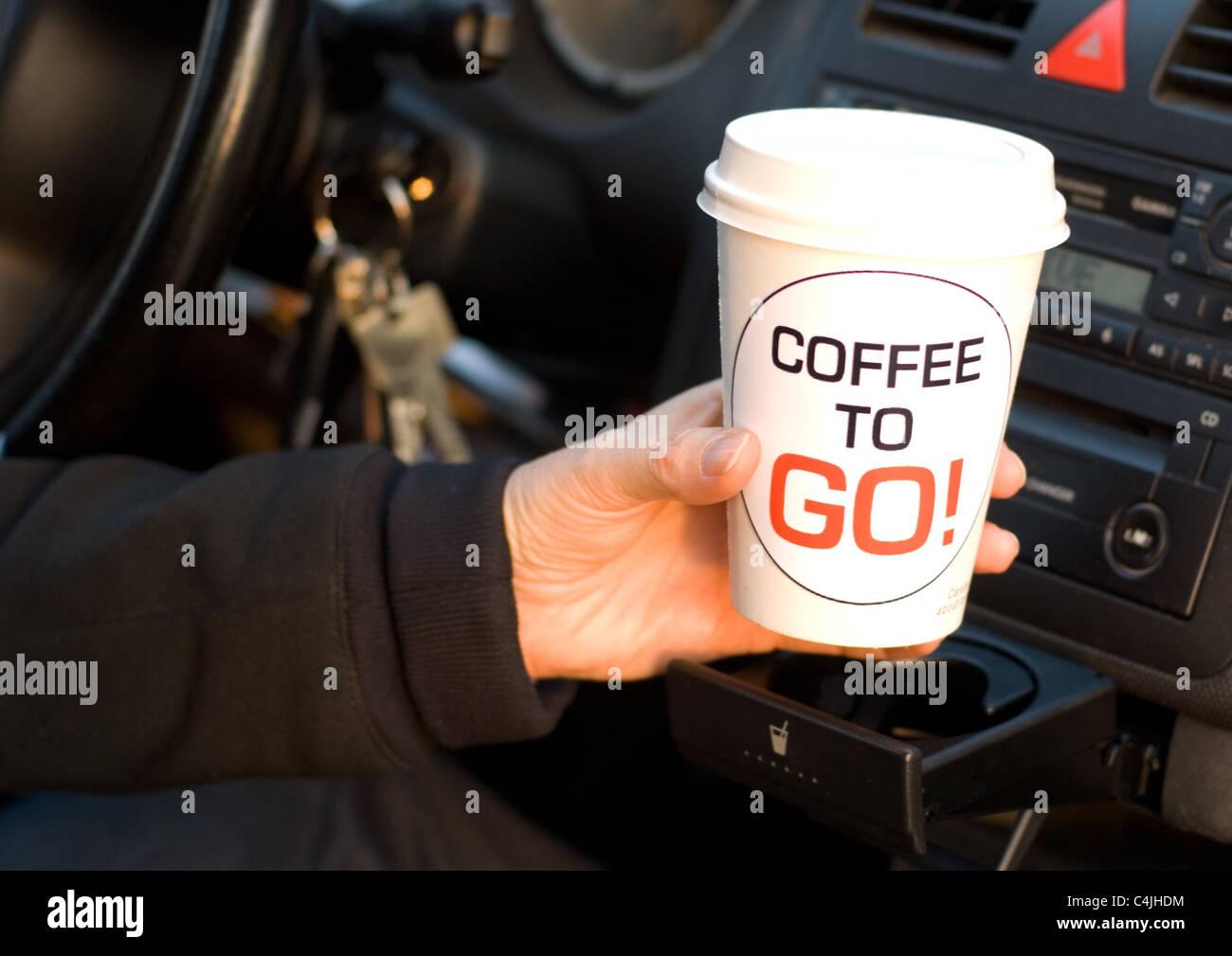 coffee to go - Stock Image