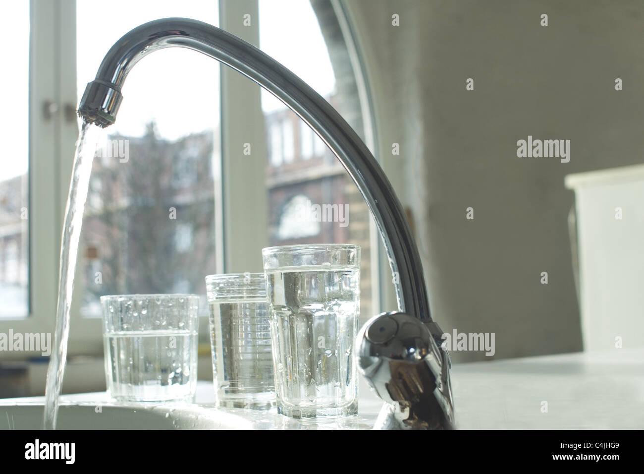 tap water Stock Photo