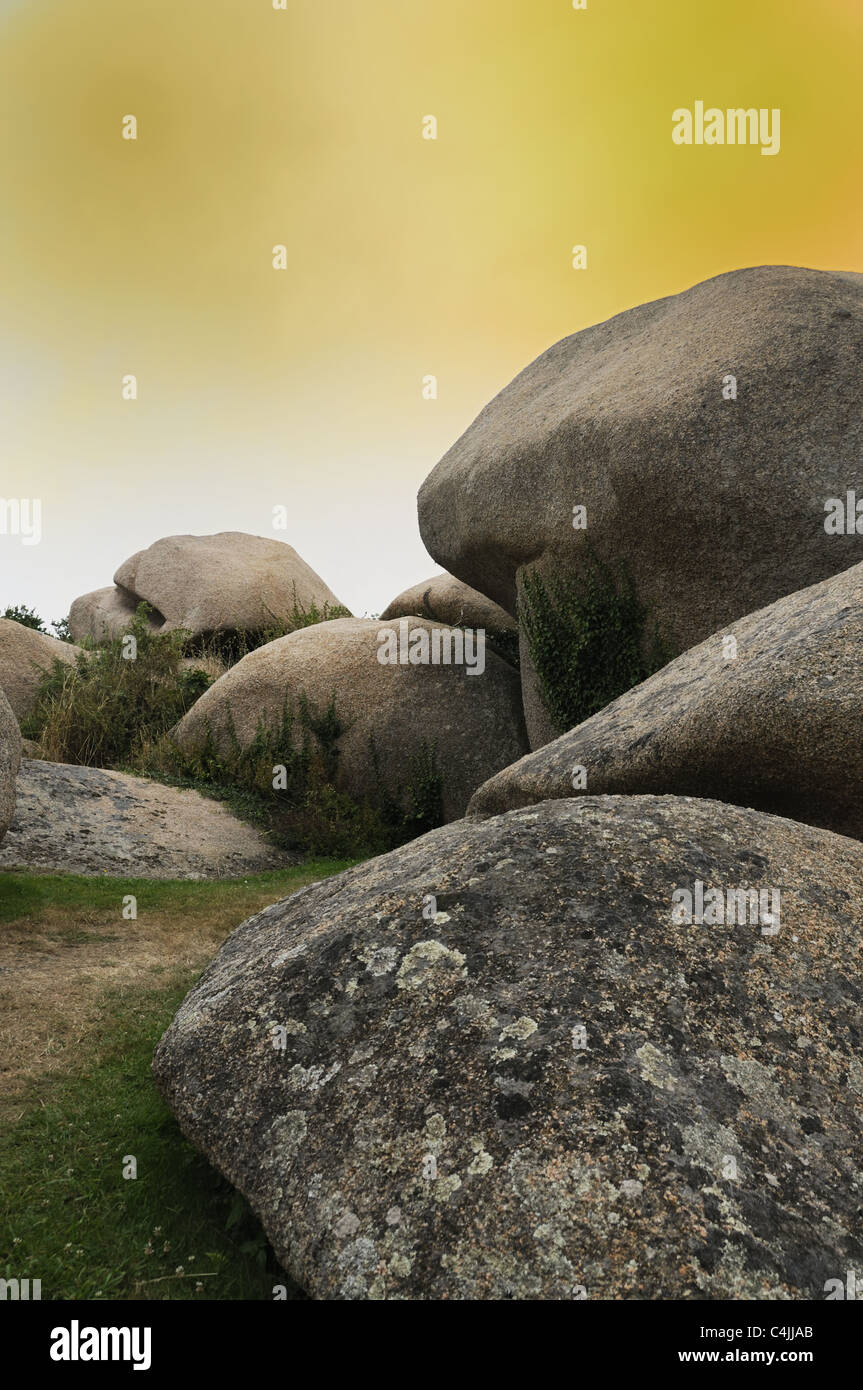 Mystical rocks - Stock Image