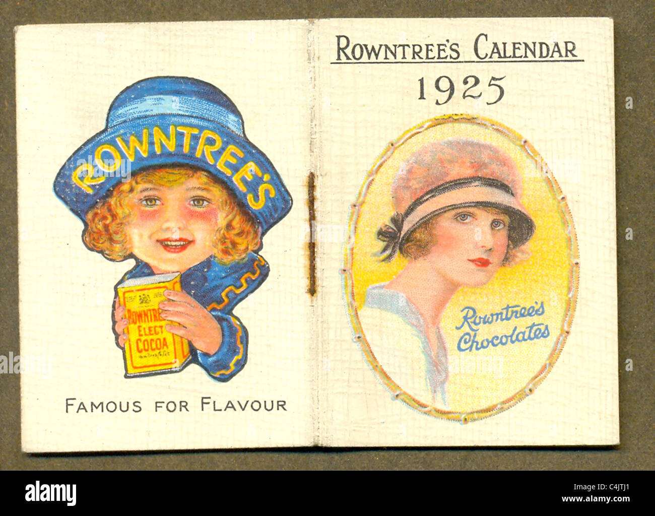 Advertising purse calendar given away by Rowntree's - Stock Image