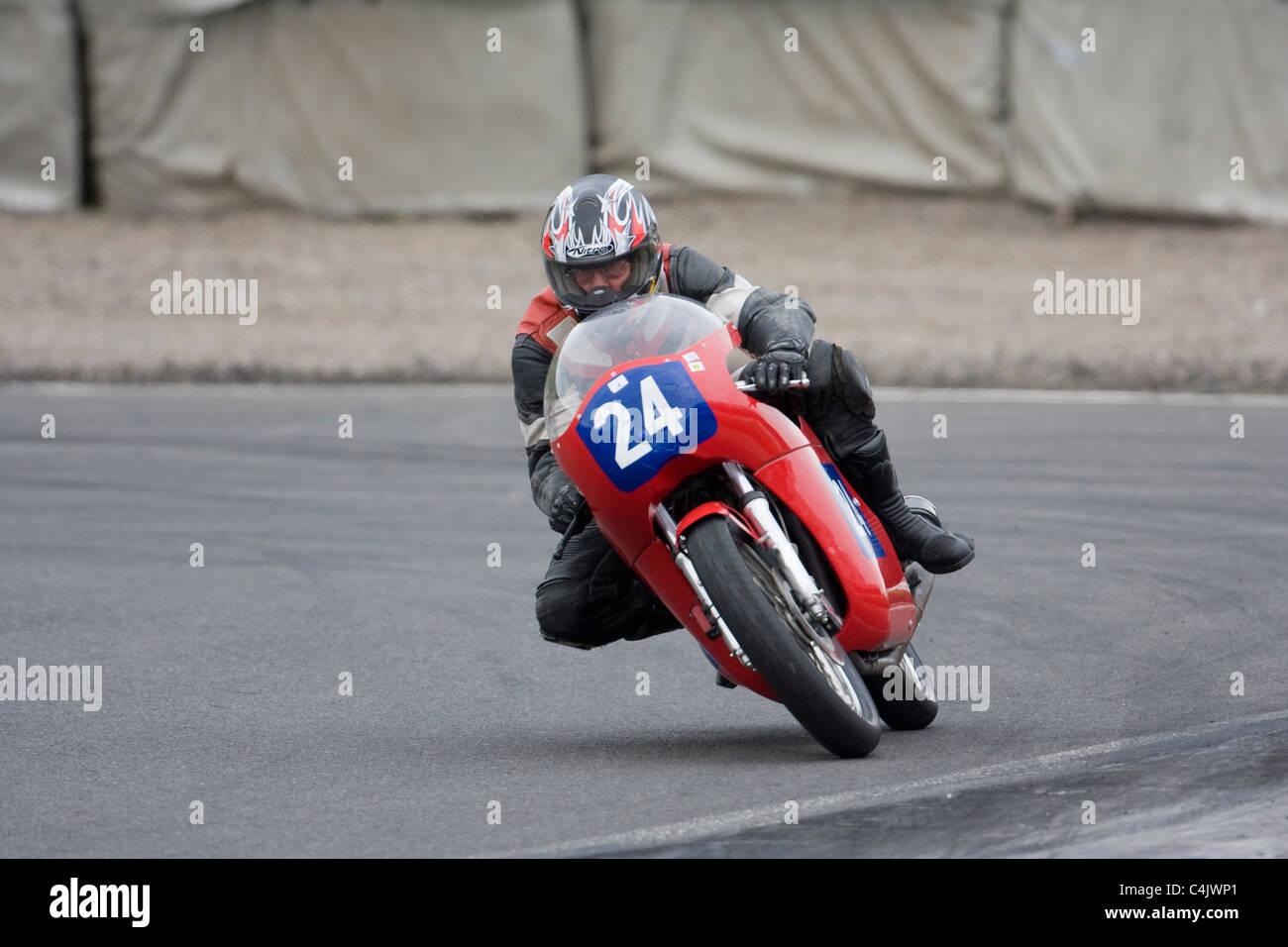Drixton Honda 348cc ridden by Paul Wood - Stock Image