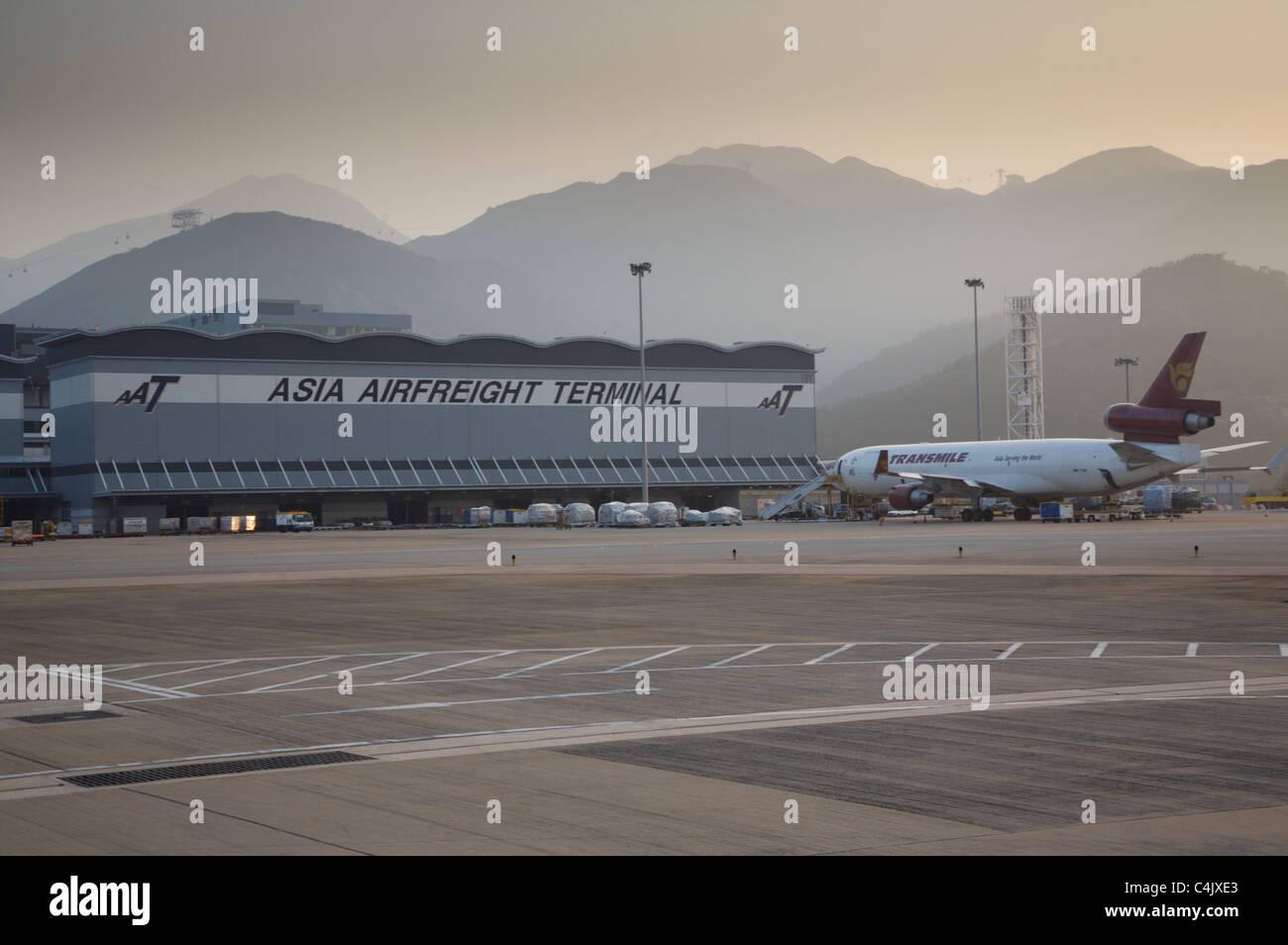 Asia Airfreight Terminal Chek Lap Kok Airport - Stock Image