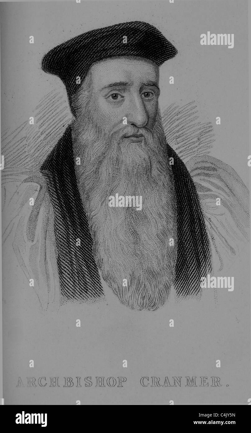 Thomas Cranmer (1489 – 1556) - Stock Image