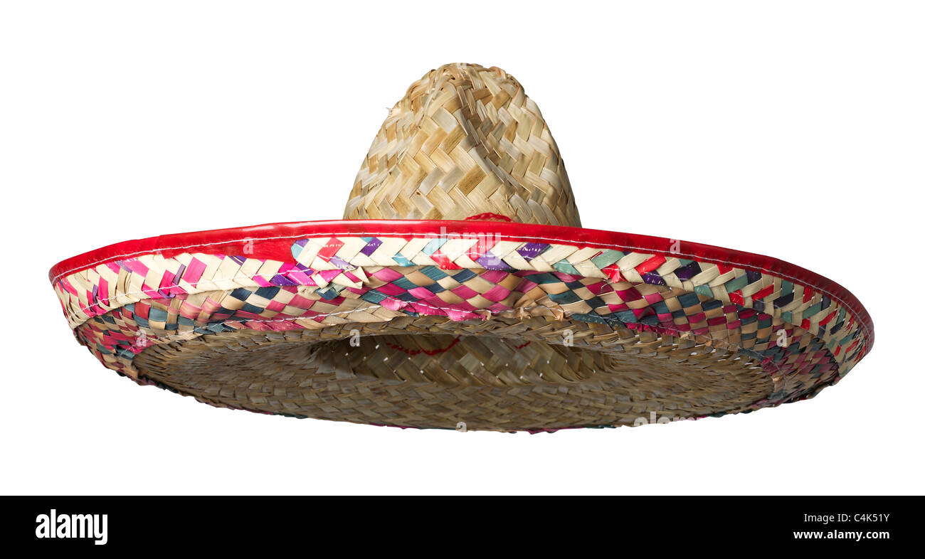 Sombrero straw hat Stock Photo