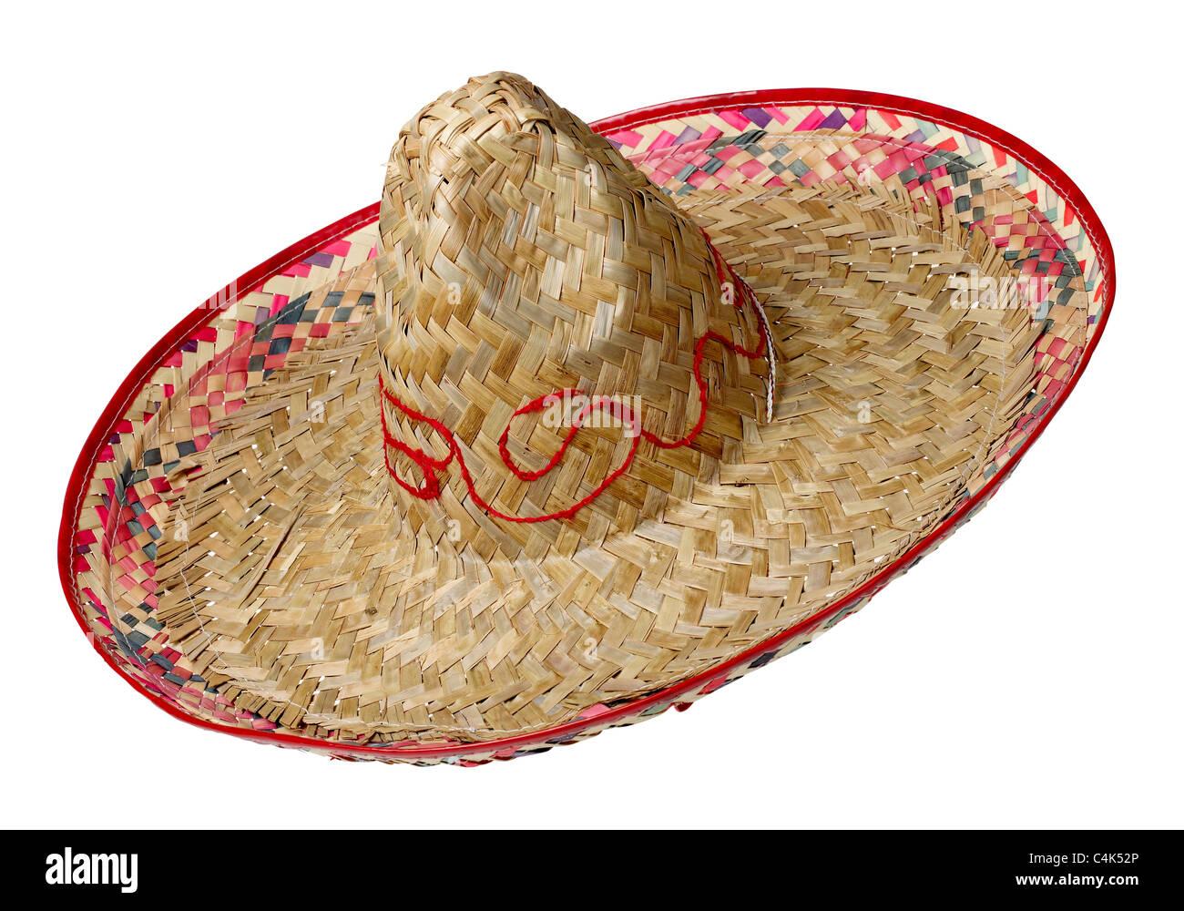 Sombrero straw hat - Stock Image
