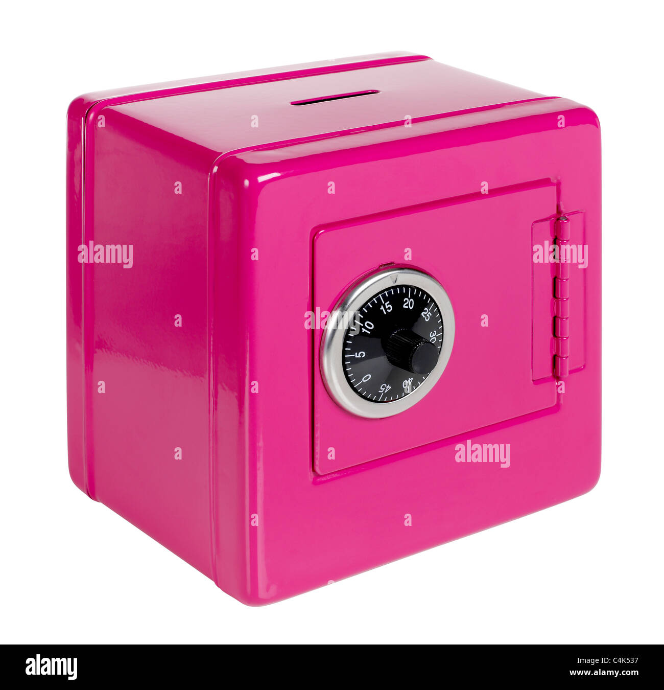Pink safe bank Stock Photo