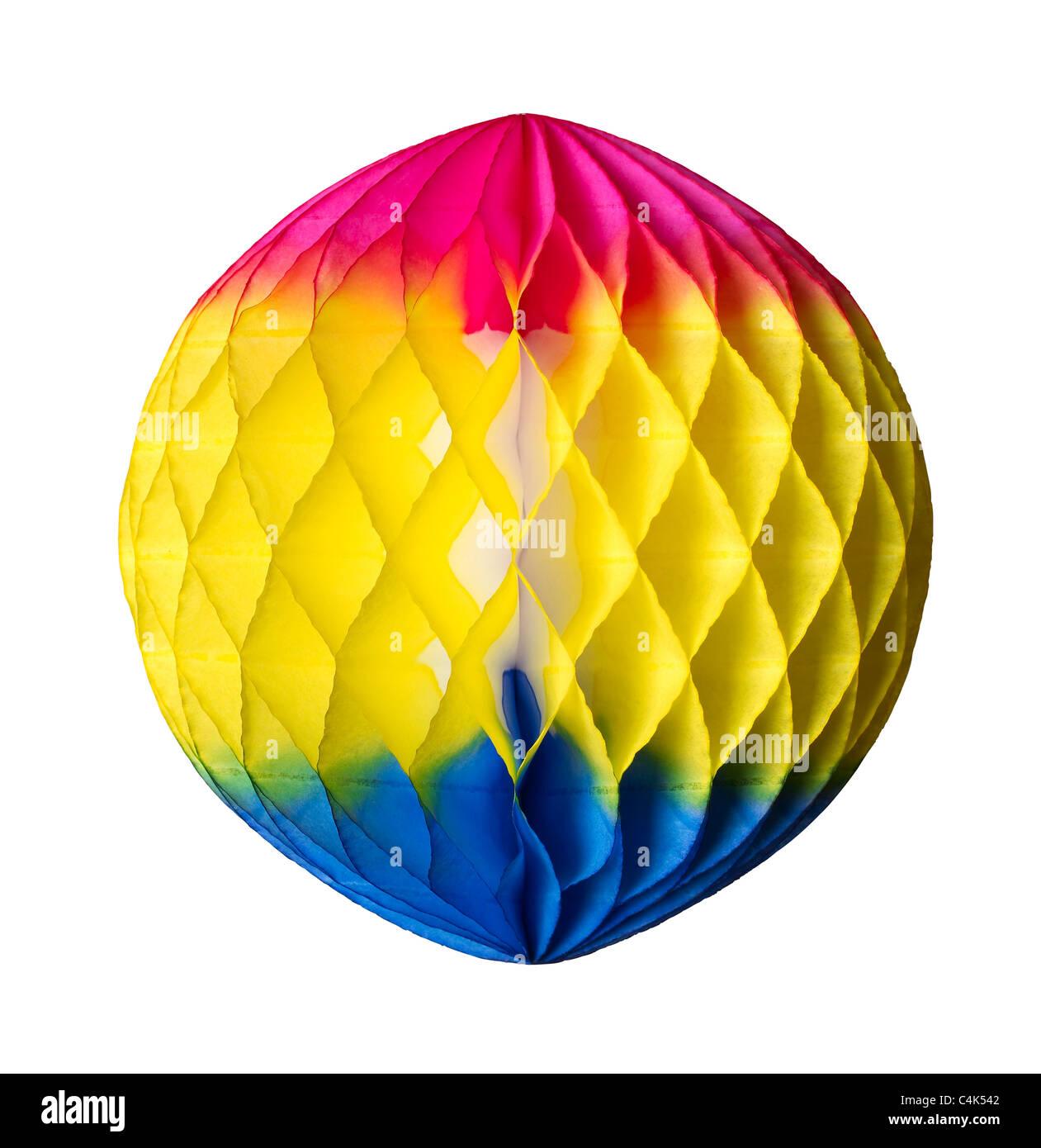 Globe paper ornament - Stock Image