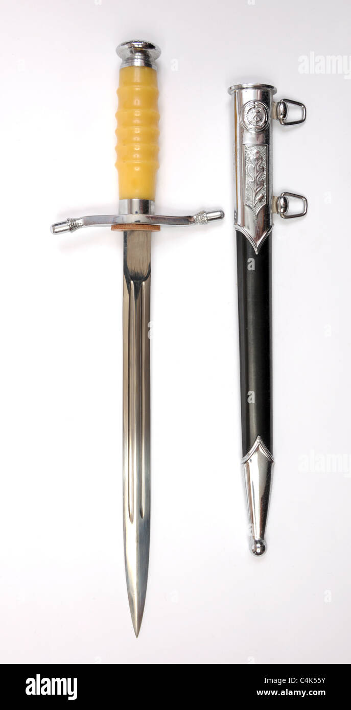 East German dagger as used for parade and walking out by NVA officer's. Stock Photo