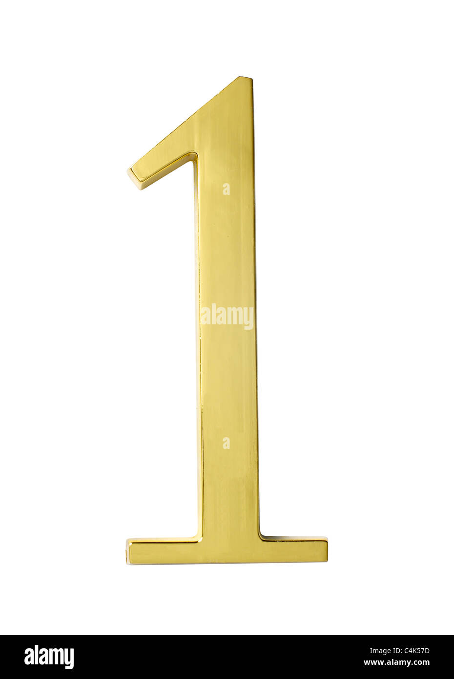 gold metal number one 1 - Stock Image
