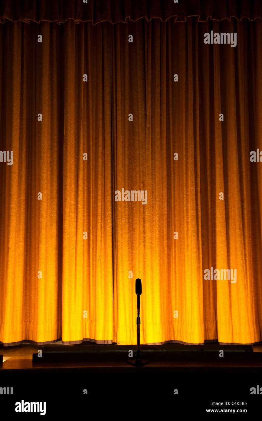 Yellow Stage Curtain For Background