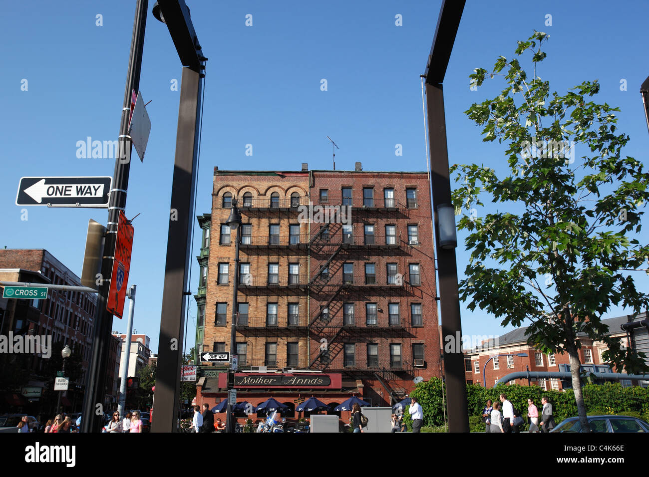 North End street scene, Boston, Massachusetts - Stock Image
